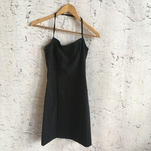 CACHE BLACK HALTER DRESS S